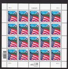 US 2000 Flag over Farm Non-Denominated Sheet of 20, Sc. 3448, Unusued MNH