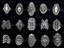 Wholesale Jewelry Lots 10ps Mixed Style Tibet Silver Vintage Rings Free shipping