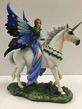 Anne Stokes Realm of Enchantment Statue Fantasy Gothic Fairy Unicorn figure