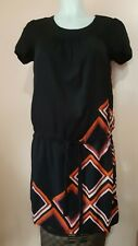H&M Black Geometric-print Dress size 4 / EU 34 / fits S