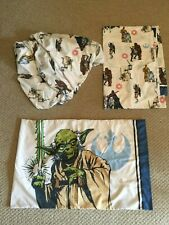 Star Wars TWIN bed sheet set FITTED FLAT & Pillow Case MICROFIBER polyseter