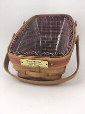 Longaberger 1991 Yuletide Traditions Christmas Basket Combo Red