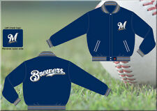 MLB Milwaukee Brewers Embroidered Reversible Jacket by JH Designs (4XL)