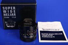 Voigtländer Super Wide Heliar 4,5/15 ASPH II (Leica M) 15mmTOMS-CAMERA-LADEN