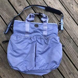Lululemon Tote Bag Baby Blue Nylon Duffle Travel  Bag One Size Preowned