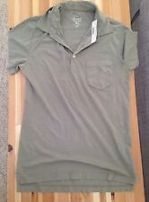 NEW Jcrew Polo Collar T-Shirt Vintage Tomboy Washed Olive Madewell $98 Xs Top