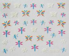 Accessoire ongles nail art Stickers autocollants , papillons et libellules