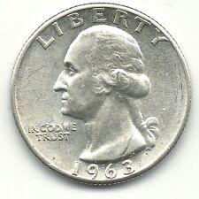 A VINTAGE HIGH GRADE AU/UNC 1963 P DDO WASHINGTON SILVER QUARTER COIN-FEB568