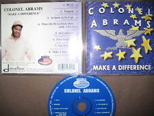 RARE LIMITED EDITION CD colonnello Abrams – Make a Difference Garage House trapped