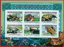 FRENCH GUINEA - ERROR, 2009 IMPERF SHEET: FROGS, Reptiles, Marine Life, Animals