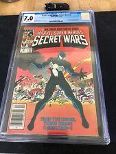 Marvel Super Heroes Secret Wars #8 Newsstand CGC 7.0 WHITE Pages Spider-Man