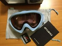Giro Adler SuperFit Youth Goggle W/ Vermillion 57 Lens - Ice Blue - Brand New