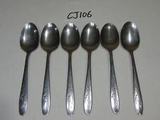 """New listing Vintage Silco Stainless Cutlery Lot Of 6 Spoons 7 1/4"""" Long"""