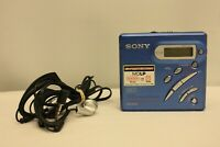SONY MZ-R500 PORTABLE MINIDISC MD RECORDER WALKMAN PLAYER MISSING BATTERY LID