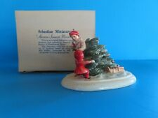 """Vintage Sebastian Miniatures Collector's Christmas Series """"Bring Home the Tree�"""