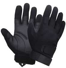 Tactical Gloves Low Profile Padded Glove Black Superior Grip Rothco 3551