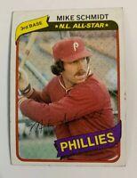 1980 Mike Schmidt # 270 Philadelphia Phillies Topps Baseball Card HOF