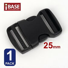 Quick Release Buckle Clip Side Cord Strap Fastener Belt Dual Adjustable Bag 25mm