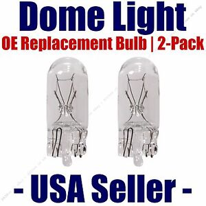 Dome Light Bulb 2-Pack OE Replacement - Fits Listed Pontiac Vehicles - 168