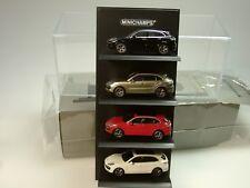 Minichamps Porsche Cayenne Turbo, 4er Set mit DISPLAY - 1:87