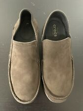 Crocs Men's Santa Cruz Canvas Loafer Slip On Casual Shoes Espresso Size Us 9