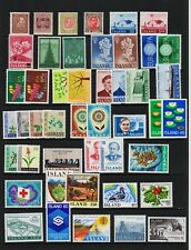 Iceland - 46 mint stamps, mostly never hinged