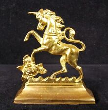 UNICORN With Rose Vintage Brass Bookend Home Decor