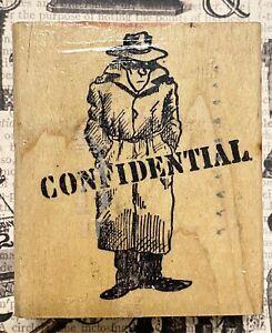 VINTAGE CONFIDENTIAL SPY SECRET agent man whisper gossip funny joke text RARE