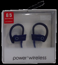 G5 Sports Power 3 Bluetooth Portable Water Resistant In-Ear Headphones - Blue