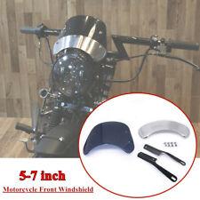 "5-7"" Retro Motorcycle Round Circular Headlamp Fairing Front Windshield Bracket"