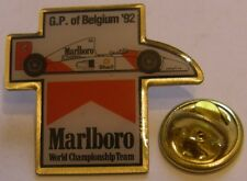 AYRTON SENNA CAR #1 McLAREN Grand Prix of BELGIUM 1992 MARLBORO F1 pin badge