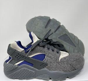 Nike Women's Huarache Pendleton ID Grey White SZ 6  [836139-994]