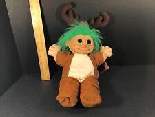 "Russ 14"" Trolls Troll Doll Christmas Edition #2335 Rudolph Red Nose Reindeer"
