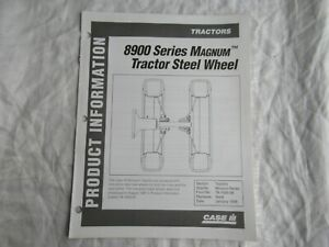 Case CASEIH Magnum 8900 tractor steel wheel product information brochure