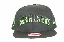 New Era MLB 9Fifty SEATTLE MARNERS The Filler 950 Snapback Cap Hat NWT Black