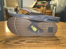 NWT Reef Fanning Leather Bottle Opener Flip Flops Size 12 Brown