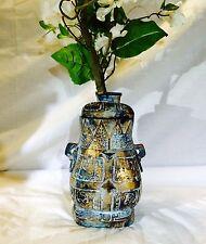 """Unique 27"""" Iron Metal Multi Color Planter w/Silk Flower Arrangement"""