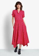 Hush Kensington Shirt Dress in Flying Birds Red Size 10 BNWT RRP £69
