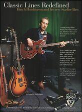 Hutch Hutchinson 1998 Guild Starfire Bass Guitar ad 8 x 11 advertisement print
