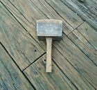 Primitive Heavy Wooden Mallet Hammer Club Homemade? Tools Crafting Decor
