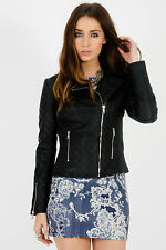 Unbranded Women's Faux Leather Casual Biker Coats & Jackets