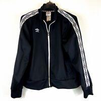 Umbro Size XL Black & White Full Zip Athletic Jacket Women's