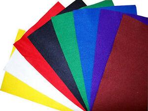 8 PACK ASSORTED PREMIUM WOOL BLEND ARTS & CRAFTS FABRIC FELT SHEETS SQUARES,
