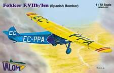 FOKKER F VII b/3M BOMBER (SPANISH REPUBLICAN & CROATIAN MKGS) 1/72 VALOM RARE!