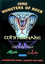 Whitesnake-Monsters Of Rock Donington Park UK August 18th 1990 concert poster