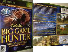 XBOX LIVE Gioco CABELAS Big Game Hunter caccia GIOCO ANIMALI GIOCO attrezzature NUOVO OVP