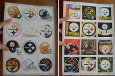 12 PITTSBURGH STEELERS BIG SQUARE STICKERS LOGOS