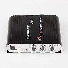 Elegiant Mini 200W 12V Hi-Fi Audio de canal de potencia amplificador estéreo de coche-Pesado