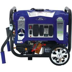 Ford 5250 Watt Portable Dual Fuel Gas Propane Remote Control Generator FG5250PBR
