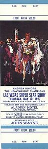 Muhammad Ali Las Vegas Super Star Show On Site Ticket 1977  Boxing Leroy Neiman